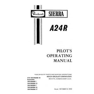 Beech Sierra - Beech A-24R Sierra Pilot's Operating Manual (part# 169-59006-19)