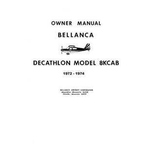 Bellanca - Bellanca 8KCAB Decathlon 1973-74 Owner's Manual (part# BE8KCB73-74-O)