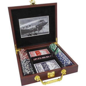 Board Games & Puzzles - Flying Is Freedom Poker Set In Box (100 Chips)