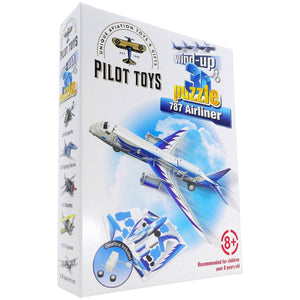 Board Games & Puzzles - Pilot Toys 787 Airliner Wind-Up 3D Puzzle