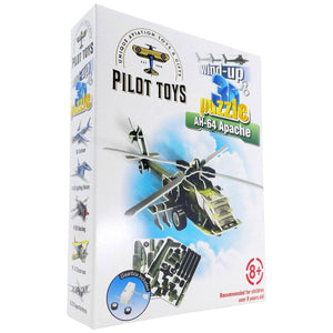 Board Games & Puzzles - Pilot Toys AH-64 Apache Wind-Up 3D Puzzle