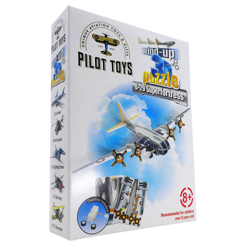 Board Games & Puzzles - Pilot Toys B-29 Superfortress Wind-Up 3D Puzzle