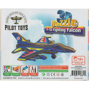 Board Games & Puzzles - Pilot Toys F-16 Fighting Falcon 3D Puzzle