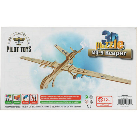 Board Games & Puzzles - Pilot Toys MQ-9 Scouting Drone 3D Puzzle