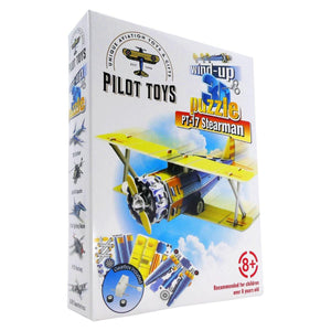 Board Games & Puzzles - Pilot Toys PT-17 Stearman Wind-Up 3D Puzzle