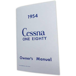 Cessna 180 - Cessna 180 1954 Owner's Manual