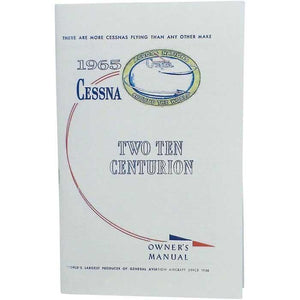 Cessna 210 - Cessna 210E 1965 Owner's Manual