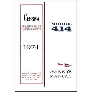 Cessna 414 - Cessna 414 1974 Owner's Manual