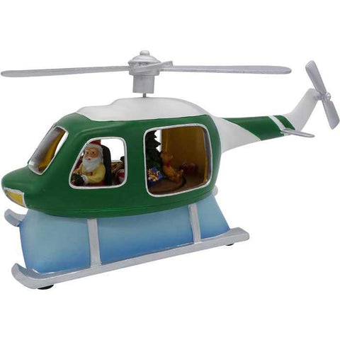 Christmas - Amusements Music Helicopter Green/White LED