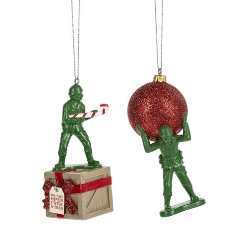 Christmas - Army Men Ornaments (Set Of 2)