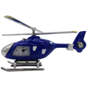 Clocks & Thermometers - Pilot Toys Blue Helicopter Desk Clock