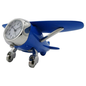 Clocks & Thermometers - Pilot Toys Blue High Wing Desk Clock