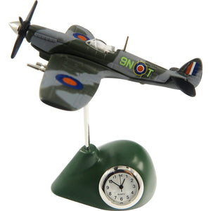 Clocks & Thermometers - Pilot Toys Spitfire Desk Clock