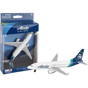 Die Cast Planes - Alaska Airlines Single Die-cast Plane New Livery
