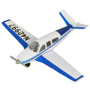 Die Cast Planes - Hot Wings Beechcraft Bonanza Die Cast Aircraft With Connectible Runway