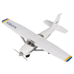 Die Cast Planes - Hot Wings Cessna 172 Die Cast Aircraft With Connectible Runway