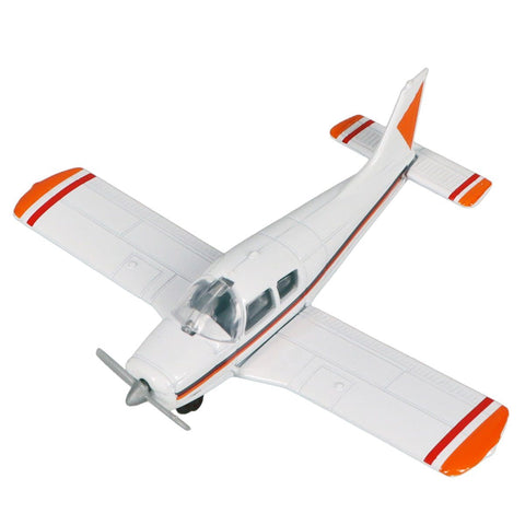 Die Cast Planes - Hot Wings Piper Cherokee Die Cast Aircraft With Connectible Runway