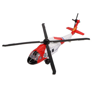 Die Cast Planes - Hot Wings SH-60 SeaHawk Coast Guard Helicopter Die Cast Aircraft With Connectible Runway