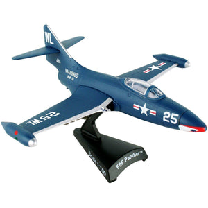 Die Cast Planes - Postage Stamp F9F Panther 1/100 Scale Die-cast Model