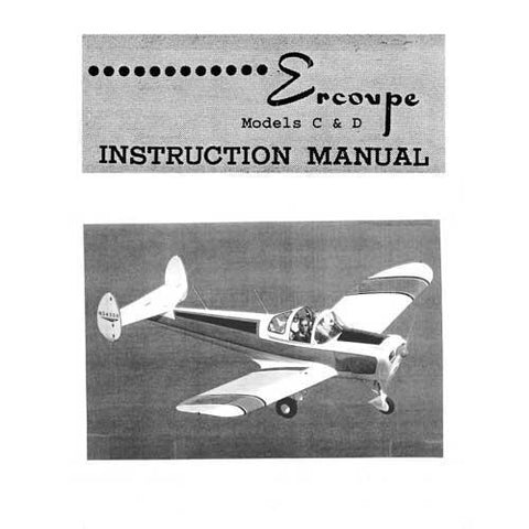 Ercoupe - Ercoupe  415C Instruction Manual (part# ER415C-IN)