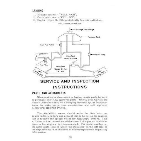 Ercoupe - Ercoupe  F-1A 1961 Flight & Operations Manual (part# ERF1A-61-F-C)