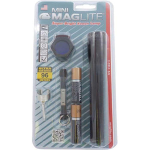 Flashlights - Mini MagLite Black 2AA Flashlight Combo Pack