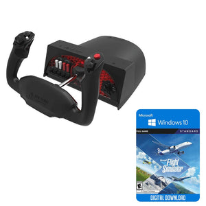 Flight Simulation - Honeycomb Aeronautical Alpha Flight Control Yoke Bundle W/Microsoft Flight Simulator Standard Edition Digital Download