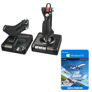 Flight Simulation - Logitech Saitek X52 Pro Flight Control System Bundle W/Microsoft Flight Simulator Standard Edition Digital Download