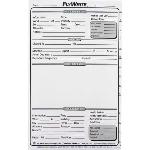 Forms & Checklists - Checkmate FlyWrite Cockpit Writing Pad