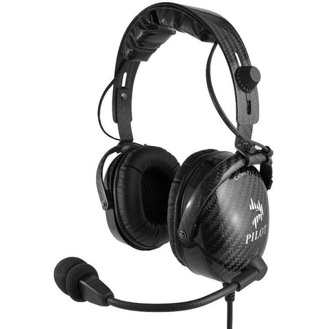 Headsets - Pilot USA Carbon Headset With Bluetooth