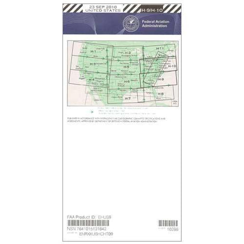 IFR Enroute High Altitude Charts - FAA Enroute High US H9/10 - 11-05-20 - 12-31-20