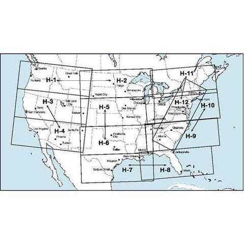 IFR Enroute High Altitude Charts - FAA IFR High Alt NACO Full Set