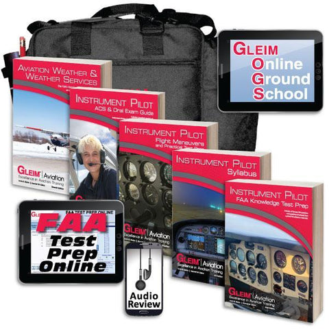 Instrument Rating - Gleim 2021 Deluxe Instrument Pilot Kit With Audio Review