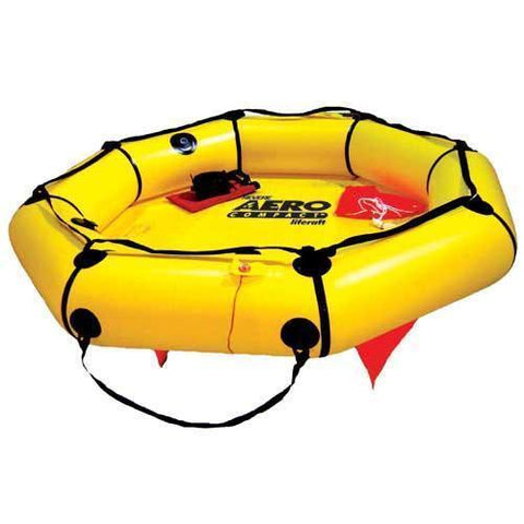 Life Vests & Life Rafts - Revere Supply Aero Compact Liferaft For Aviation 4 Person