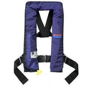 Life Vests & Life Rafts - Revere Supply Blue ComfortMax Inflatable Life Vest