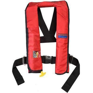 Life Vests & Life Rafts - Revere Supply Red ComfortMax Inflatable Life Vest