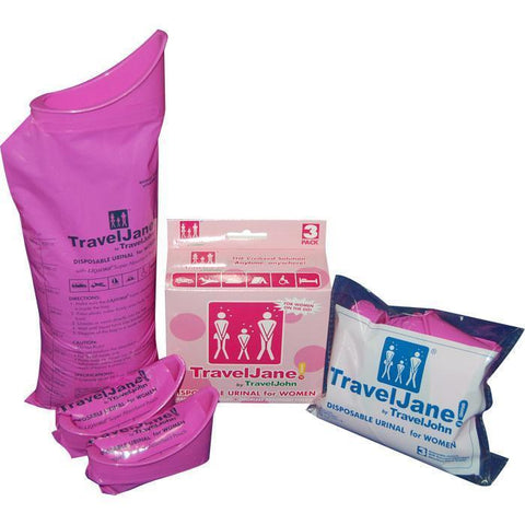 Motion Sickness & Relief - TravelJane Disposable Urinal & Sickness Bags (3 Pack)
