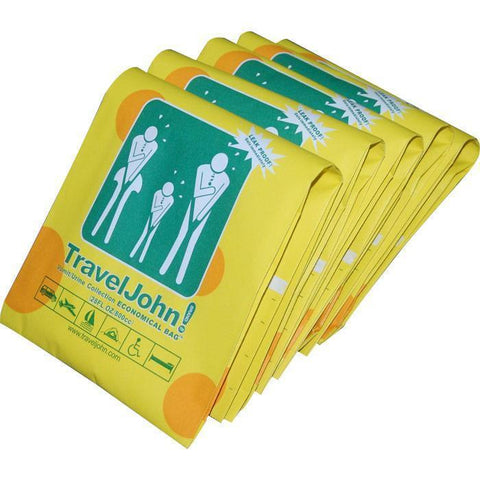 Motion Sickness & Relief - TravelJohn Vomit/Urinal Disposable Combo Bags (5 Pack)