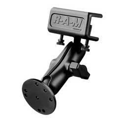 Mounts - RAM Glare Shield Clamp Mount With Round Base Adapter Kit