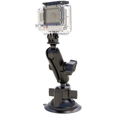 Mounts - RAM GoPro Hero Adapter With Suction Cup Mount Kit