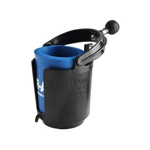"""Mounts - RAM Self-Leveling Cup Holder With 1"""" Ball & Koozie"""