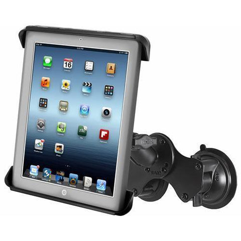 """Mounts - RAM Tab-Tite Universal Cradle For 10"""" Tablets Double Suction Mount Kit"""