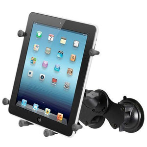 "Mounts - RAM Universal X-Grip Cradle For 10"" Tablets Double Suction Mount Kit"