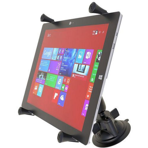 """Mounts - RAM Universal X-Grip Cradle For 12"""" Tablets With Suction Cup Mount Kit"""