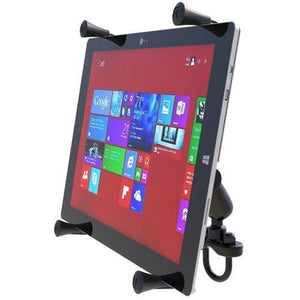"Mounts - RAM Universal X-Grip Cradle For 12"" Tablets With U-Bolt Rail Mount Kit"