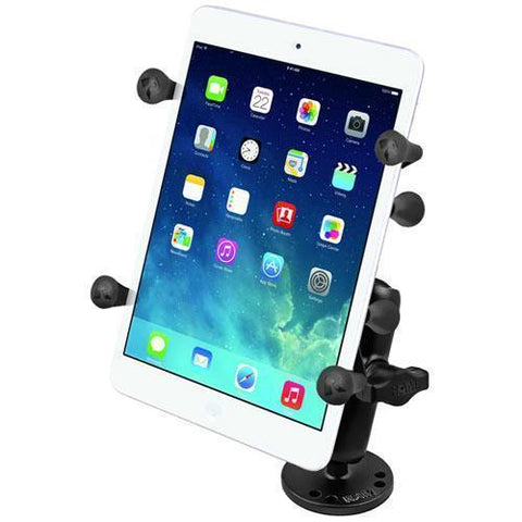 """Mounts - RAM Universal X-Grip Cradle For 7"""" Tablets With Flat Surface Mount Kit"""