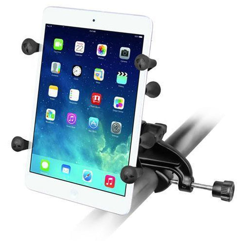 """Mounts - RAM Universal X-Grip Cradle For 7"""" Tablets With Yoke Clamp Mount Kit"""