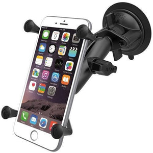Mounts - RAM Universal X-Grip IV Phone Cradle With Suction Cup Mount Kit