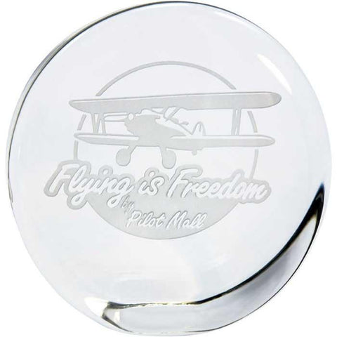 Office - Flying Is Freedom Standing Disk Paperweight
