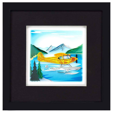 Office - Quilled Float Plane Framed Shadow Box